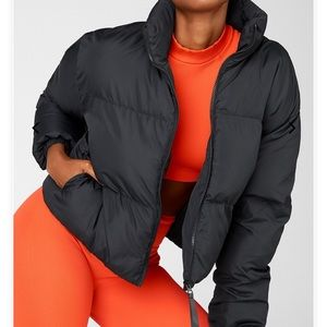 FABLETICS Black Cropped Puffer Jacket